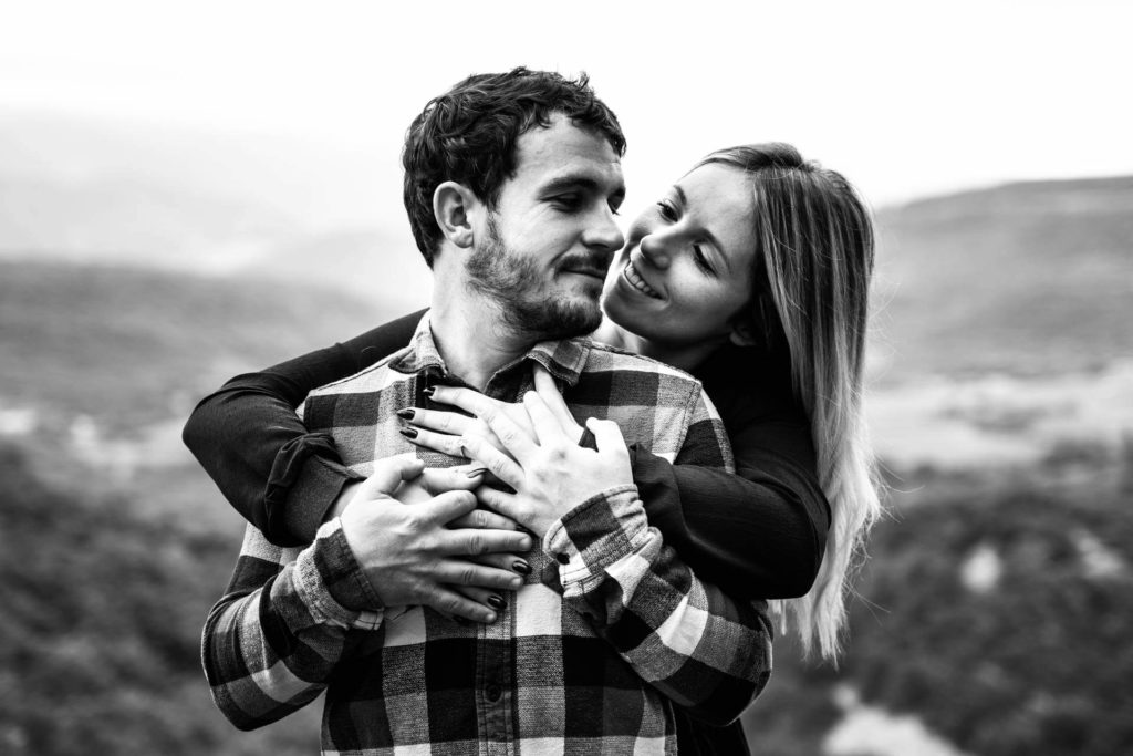 Shooting photo Valence seance engagement Couple Amour complicité