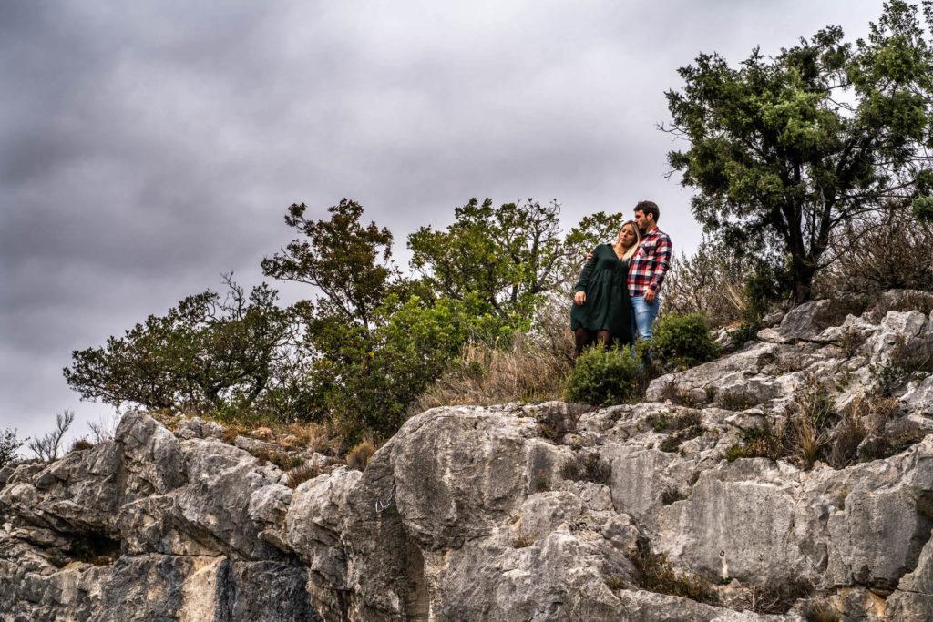 Shooting photo Valence seance engagement couple